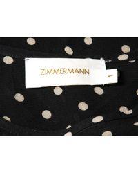 Vestido en seda marino Zimmermann de color Black