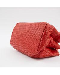 Bottega Veneta Roma Red Leather Handbag