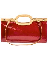 Louis Vuitton - Red Pre-owned Patent Leather Clutch Bag - Lyst