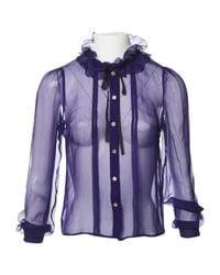 Miu Miu | Purple Pre-owned Silk Shirt | Lyst