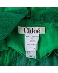 Chloé Green Seide Bluse