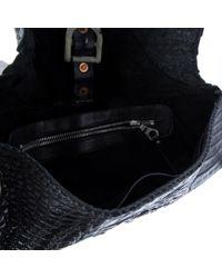 Pochette in coccodrillo nero di Rick Owens in Black