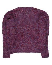 IRO Purple Wolle Pullover