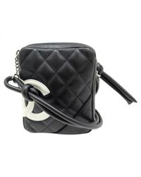 Chanel Black Pre-owned Leather Crossbody Bag