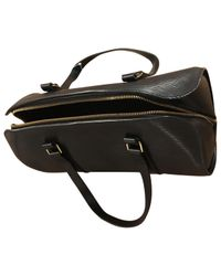Louis Vuitton - Black Pre-owned Leather Handbag - Lyst