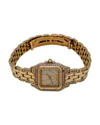 Reloj Panthère de Oro amarillo Cartier de color Metallic