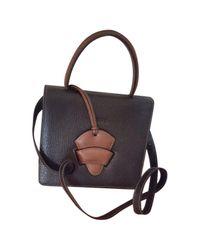 Loewe Pre-owned Vintage Barcelona Black Leather Handbags