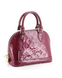 Louis Vuitton Purple Alma Leinen Handtaschen