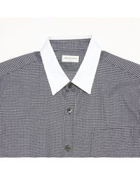 Dries Van Noten Blue Navy Cotton Shirt for men