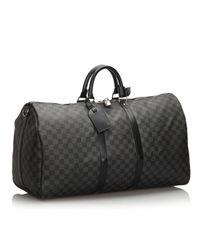 Borsa a mano in plastica nero di Louis Vuitton in Black