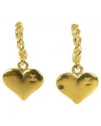 Louis Vuitton - Metallic Pre-owned Earrings - Lyst