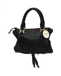 Chloé - Black Pre-owned Marcie Leather Satchel - Lyst