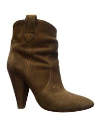 Isabel Marant Brown Pre-owned Leather Ankle Boots