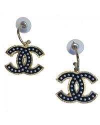 Chanel | Black Pre-owned Earrings | Lyst