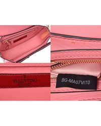 Sac à main All over chain en Cuir Rose Valentino en coloris Pink