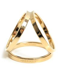 Hermès Metallic Anneau De Foulard Schals