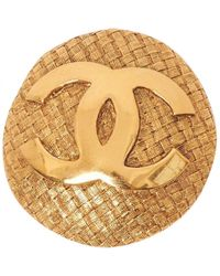 Chanel | Metallic Pre-owned Pin & Brooche | Lyst