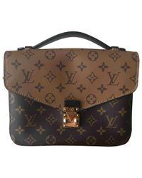 Louis Vuitton Brown Metis Leather Satchel
