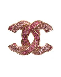 Chanel - Pink Pre-owned Pin & Brooche - Lyst