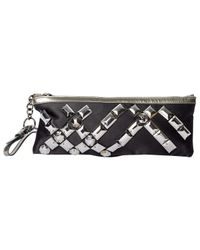 Burberry Black Cloth Clutch Bag