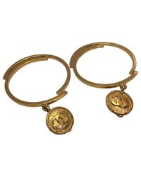 Chanel - Metallic Pre-owned Yellow Gold Earrings - Lyst