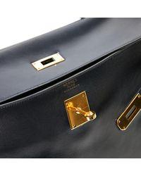 Hermès Blue Kelly 35 Leder Handtaschen