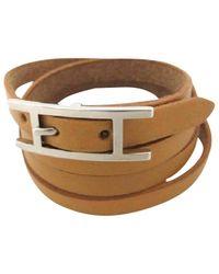 Hermès - Brown Pre-owned Hapi Leather Bracelet - Lyst