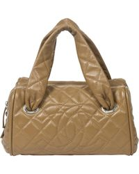 Chanel - Brown Pre-owned Leather Handbag - Lyst