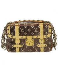 Louis Vuitton Brown Pre-owned Cloth Handbag