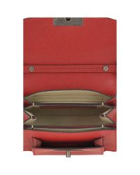 Borsa a mano in pelle rosso GV3 di Givenchy in Red