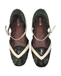 Miu Miu - Multicolor Leather Ballet Flats - Lyst