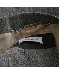 CoSTUME NATIONAL Gray Leinen Midi Kleid