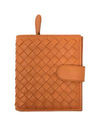 Bottega Veneta Orange Pre-owned Leather Wallet