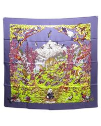 Hermès - Purple Pre-owned Carré Silk Neckerchief - Lyst
