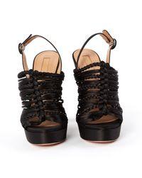 Sandali in tela nero \N di Aquazzura in Black