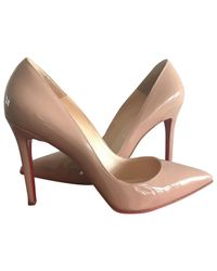 Christian Louboutin Natural Pre-owned Leather Heels