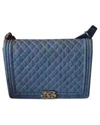 Chanel - Blue Pre-owned Boy Handbag - Lyst