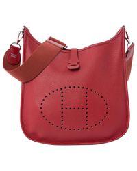 Hermès Red Pre-owned Evelyne Leather Handbag