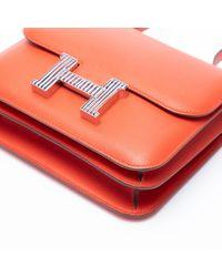 Hermès Red Constance Leder Kleine Tasche