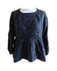 Isabel Marant Black Linen Top