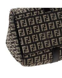 Fendi Brown Leinen Handtaschen