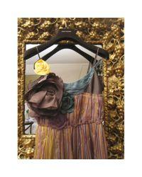Miu Miu Multicolor Seide Midi Kleid