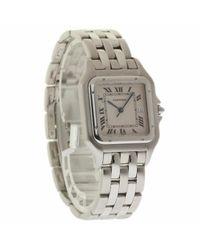 Reloj en acero blanco Panthère Cartier de color White