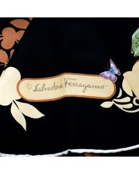 Ferragamo Black Silk Scarves