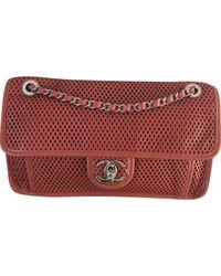 Chanel Red Timeless/classique Leder Cross Body Tashe