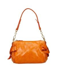 Miu Miu Orange Leather