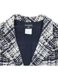 Chanel Black Tweed Midi Kleid