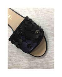 Chanel Multicolor Leder Pantoffeln