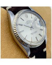 Reloj en acero plateado Datejust 36mm Rolex de hombre de color Multicolor