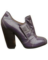 Dries Van Noten \n Purple Patent Leather Flats